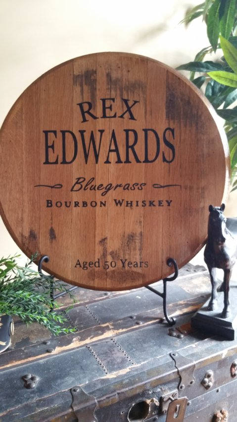 Coupons For Man Cave Gifts : Personalized kentucky bourbon barrel head man cave gift