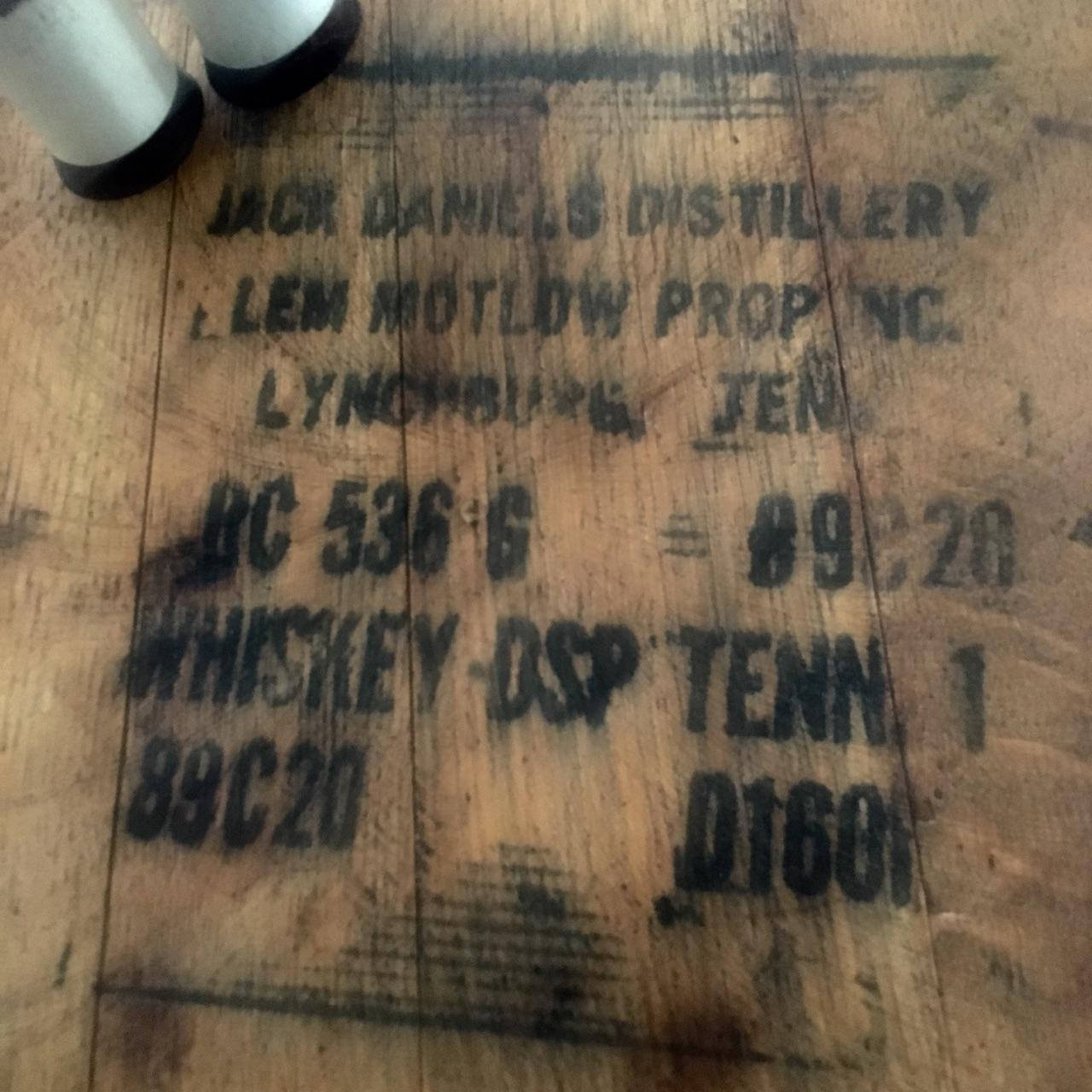 Authentic Jack Daniels Whiskey Barrel Head Lazy Susan